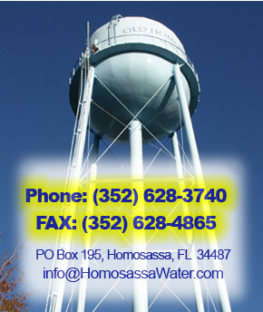 Phone: (352) 628-3740 Fax: (352) 628-4865 PO Box 195, Homosassa, FL 34487 info@HomosassaWater.com